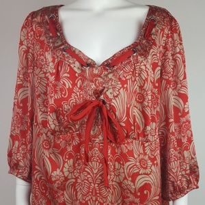 Lane Bryant Red Gold Top Size 22/24